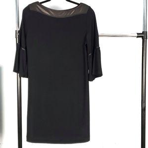 Clara Sun Woo black Bell Sleeve Dress Large